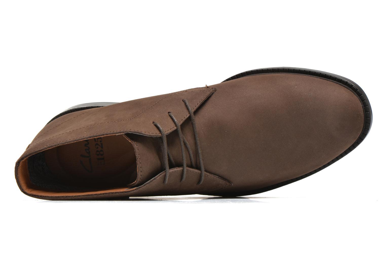 Chaussures à lacets Clarks Chilver Hi GTX Marron vue gauche