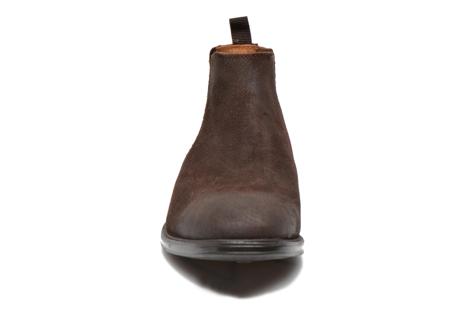 Clarks Top Dark Brown Chilver Suede KcTl1JF3
