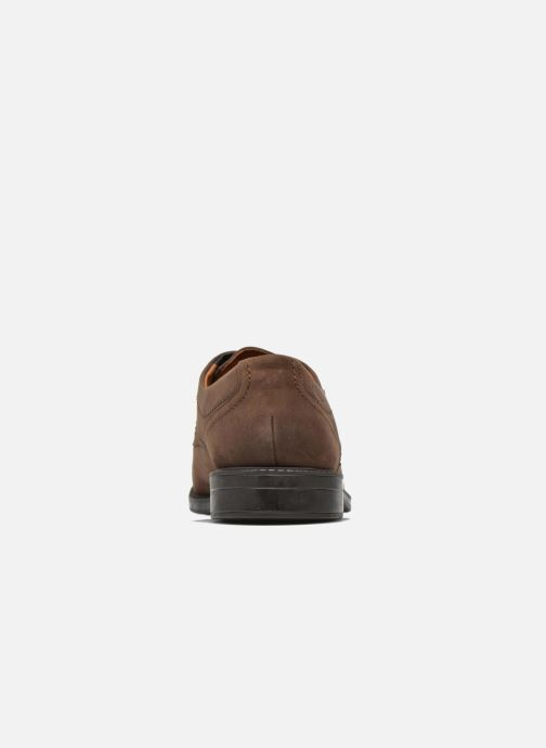 Lace-up shoes Clarks Chilver Walk GTX Brown view from the right