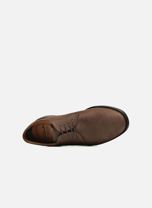 Lace-up shoes Clarks Chilver Walk GTX Brown view from the left
