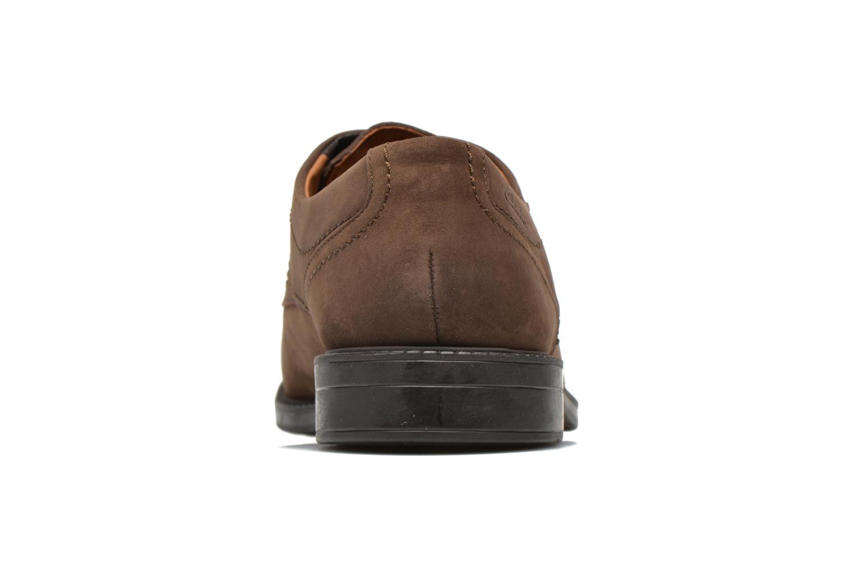 Scarpe con lacci Clarks Chilver Walk GTX Marrone immagine destra