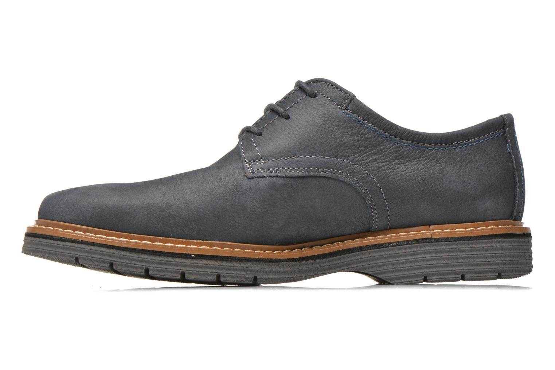 Chaussures à lacets Clarks Newkirk Plain Bleu vue face