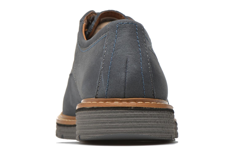 Chaussures à lacets Clarks Newkirk Plain Bleu vue droite