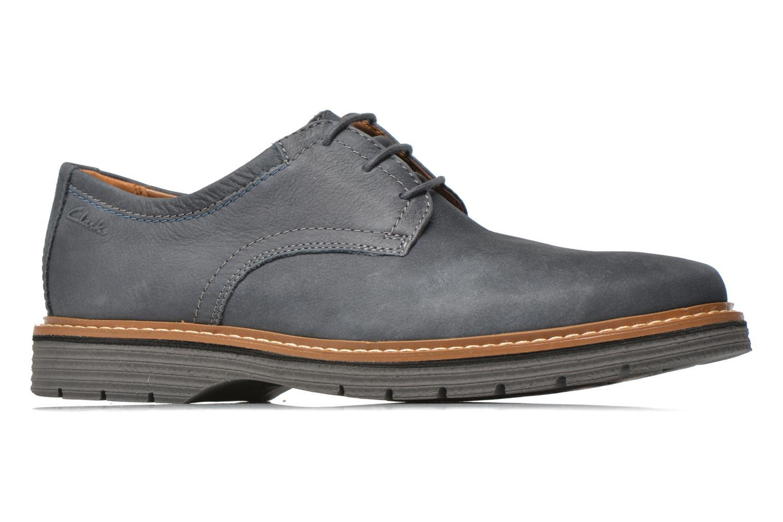 Chaussures à lacets Clarks Newkirk Plain Bleu vue derrière