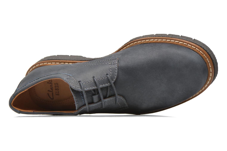 Chaussures à lacets Clarks Newkirk Plain Bleu vue gauche
