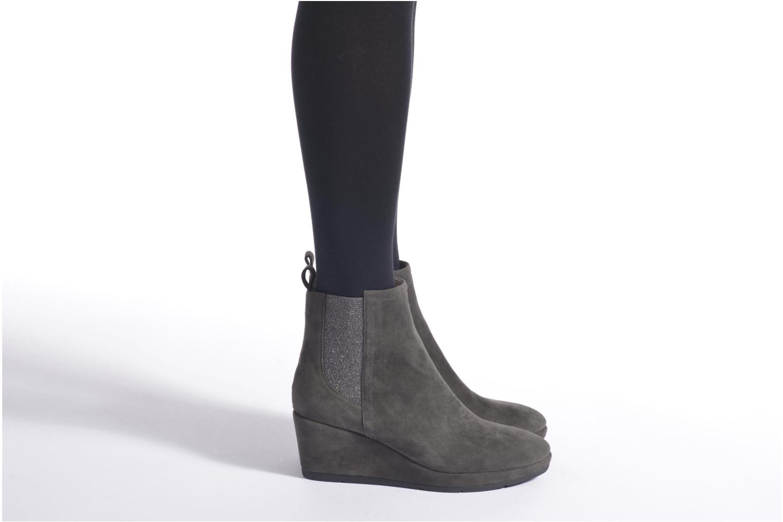 Bottines et boots JB MARTIN Ziggie Gris vue bas / vue portée sac