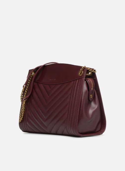 Handtaschen Nat & Nin Simone weinrot schuhe getragen