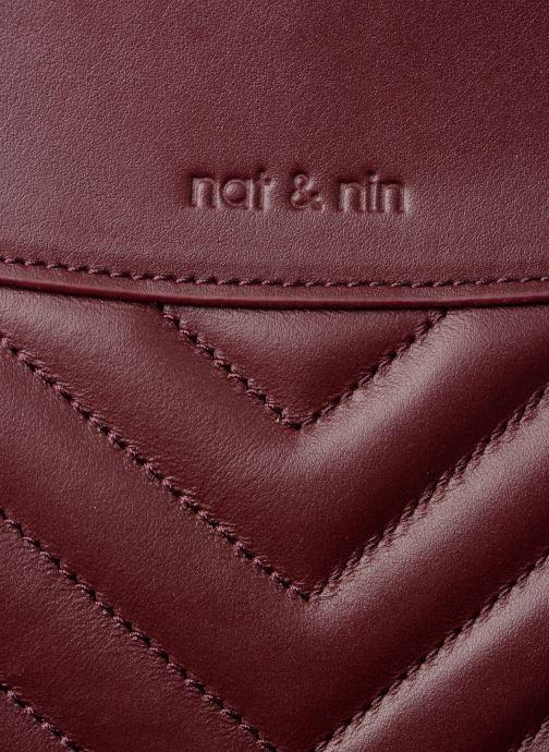 Handtaschen Nat & Nin Simone weinrot ansicht von links