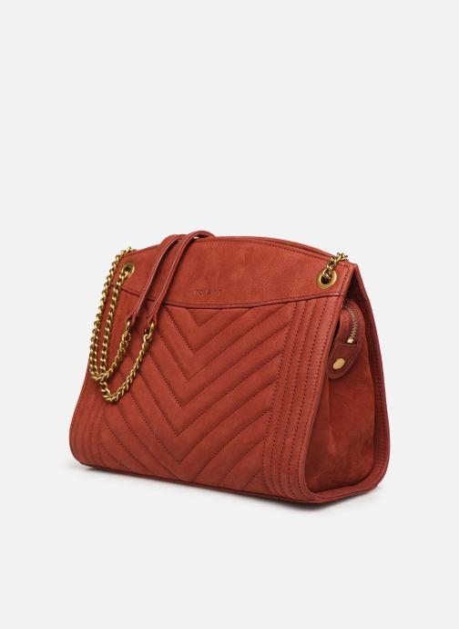 Handtaschen Nat & Nin Simone rot schuhe getragen