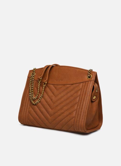 Handtaschen Nat & Nin Simone braun schuhe getragen
