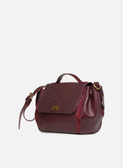 Handtaschen Nat & Nin Iris weinrot schuhe getragen