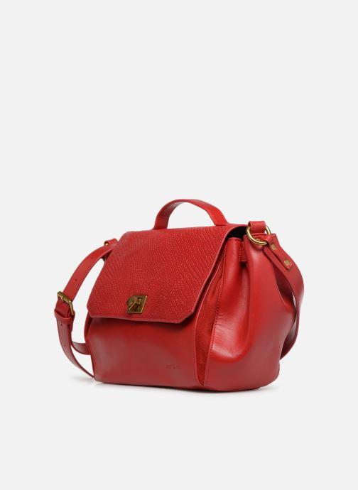 Handtaschen Nat & Nin Iris rot schuhe getragen