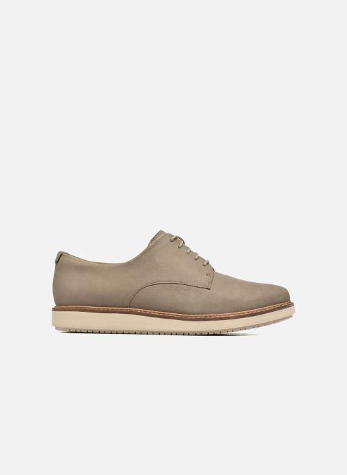 Snörade skor Clarks Glick Darby Beige bild från baksidan