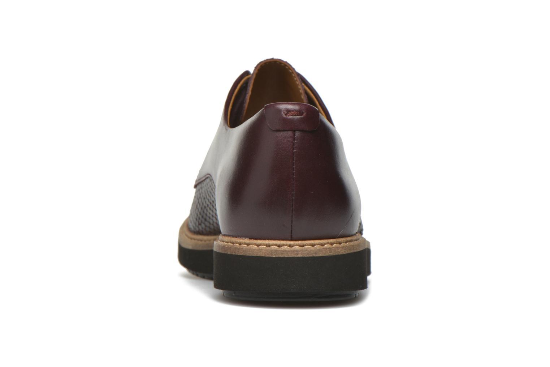 Chaussures à lacets Clarks Glick Darby Bordeaux vue droite