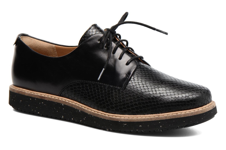 Chaussures à lacets Clarks Glick Darby Noir vue détail/paire