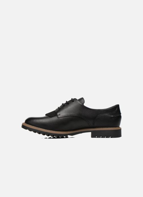 Lace-up shoes Clarks Griffin Mabel Black front view