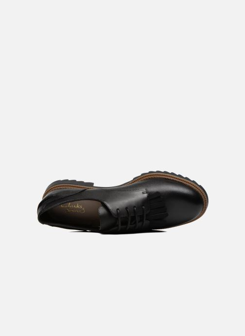 Lace-up shoes Clarks Griffin Mabel Black view from the left