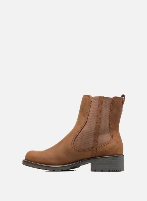 Boots Clarks Orinoco Club Brun bild från framsidan