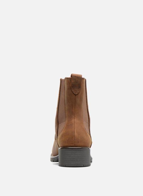 Boots Clarks Orinoco Club Brun Bild från höger sidan