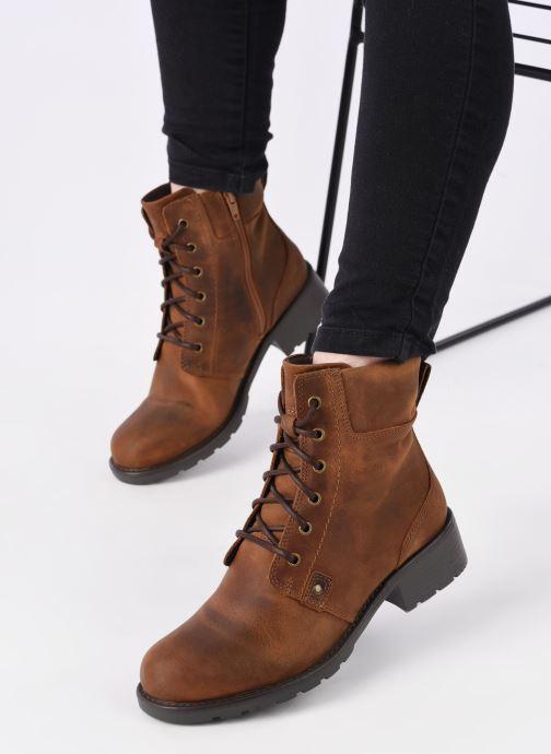 Bottines et boots Clarks Orinoco Spice Marron vue bas / vue portée sac