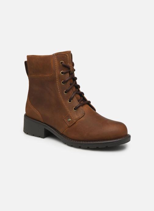 Ankelstøvler Clarks Orinoco Spice Brun detaljeret billede af skoene