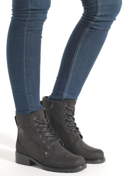 Ankle boots Clarks Orinoco Spice Black view from underneath / model view