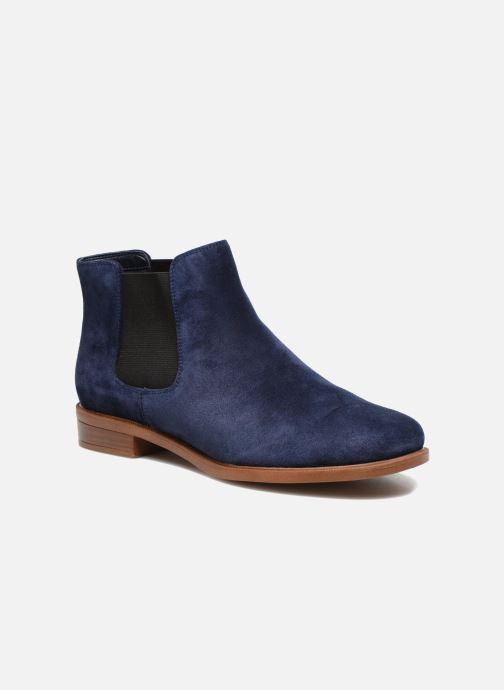 Bottines et boots Clarks Taylor Shine Bleu vue détail/paire