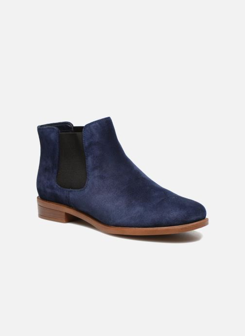 Ankle boots Clarks Taylor Shine Blue detailed view/ Pair view