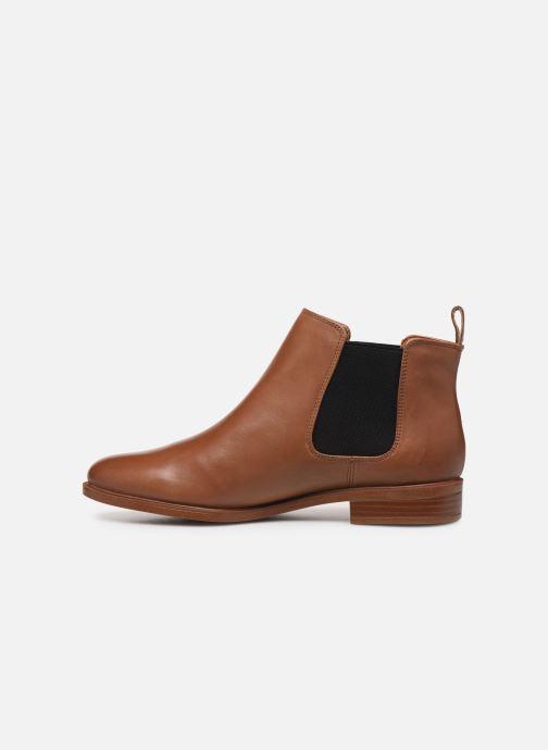 Boots en enkellaarsjes Clarks Taylor Shine Bruin voorkant