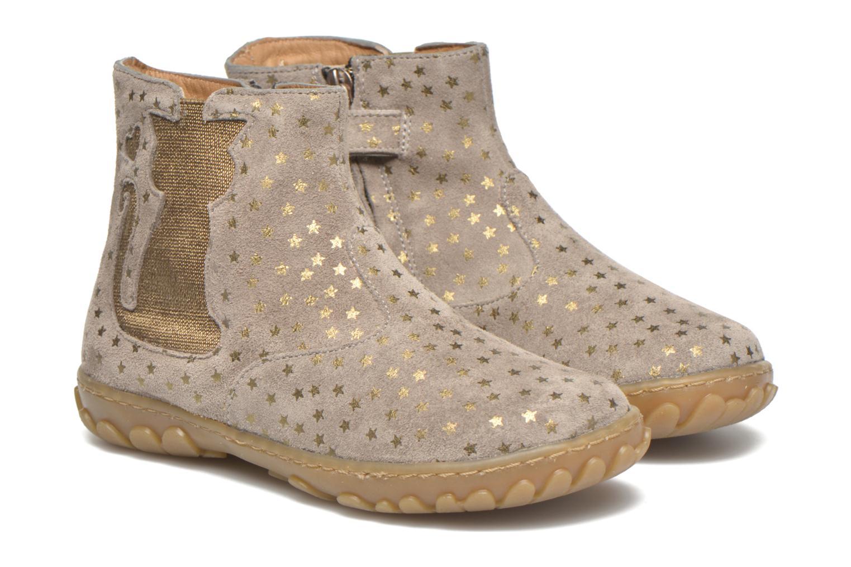 Bottines et boots Pom d Api Cute boots cat mini star Beige vue 3/4