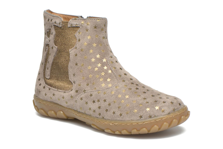 Bottines et boots Pom d Api Cute boots cat mini star Beige vue détail/paire