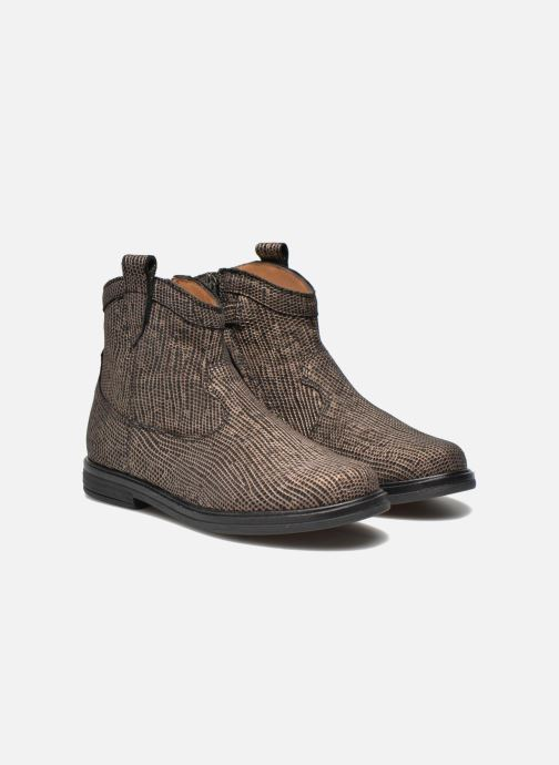 Ankle boots Pom d Api Hobo boots sivar Bronze and Gold 3/4 view