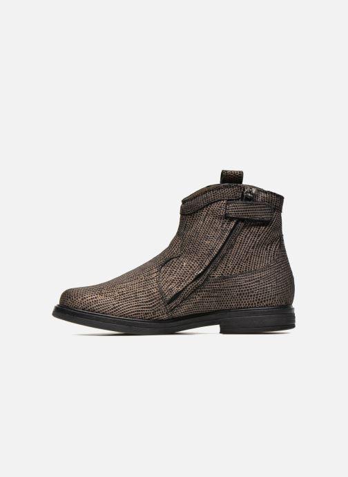 Botines  Pom d Api Hobo boots sivar Oro y bronce vista de frente