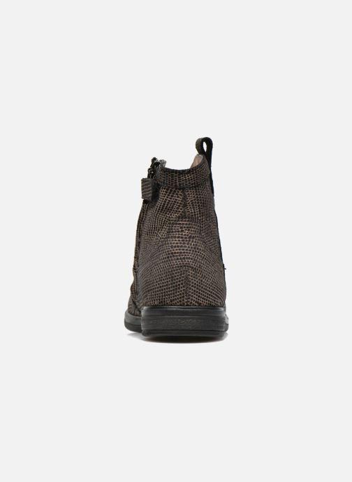 Botines  Pom d Api Hobo boots sivar Oro y bronce vista lateral derecha