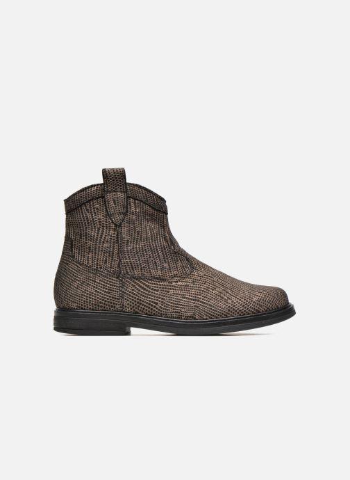 Ankelstøvler Pom d Api Hobo boots sivar Guld og bronze se bagfra