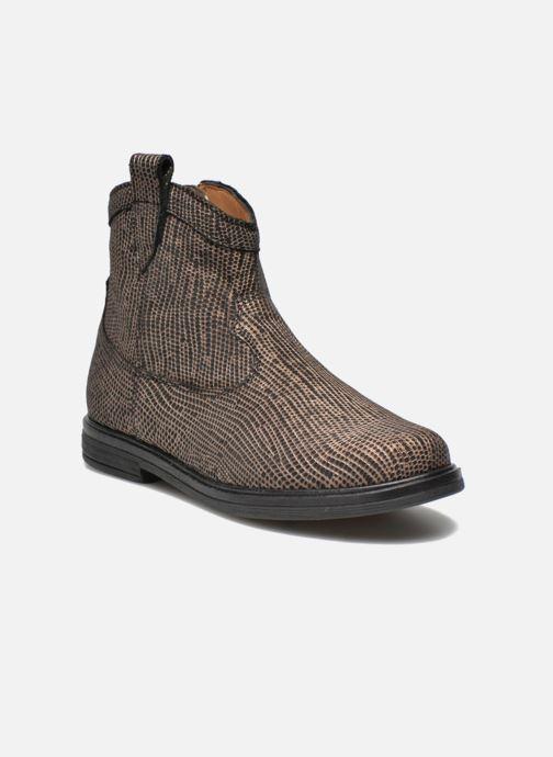 Ankelstøvler Pom d Api Hobo boots sivar Guld og bronze detaljeret billede af skoene