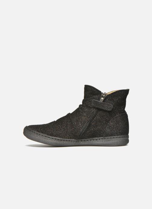 Boots en enkellaarsjes Pom d Api New school pleats golden Zwart voorkant