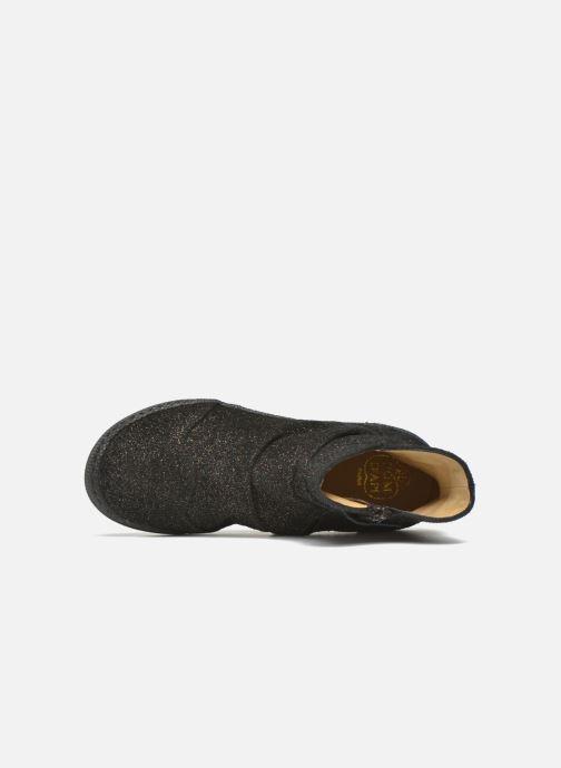 Boots en enkellaarsjes Pom d Api New school pleats golden Zwart links