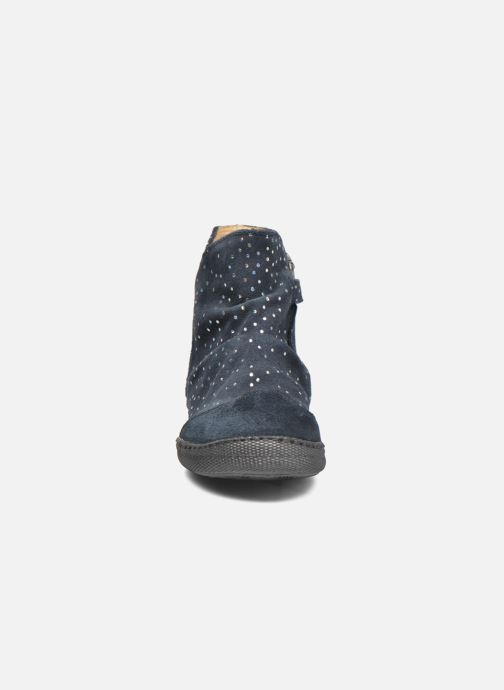 Bottines et boots Pom d Api New school pleats golden Bleu vue portées chaussures
