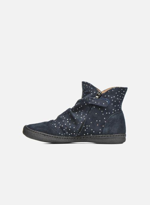 Boots en enkellaarsjes Pom d Api New school pleats golden Blauw voorkant