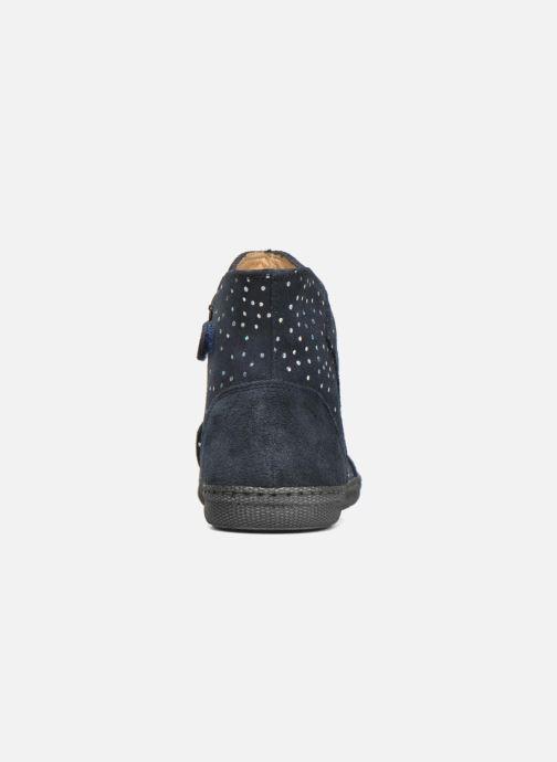 Bottines et boots Pom d Api New school pleats golden Bleu vue droite