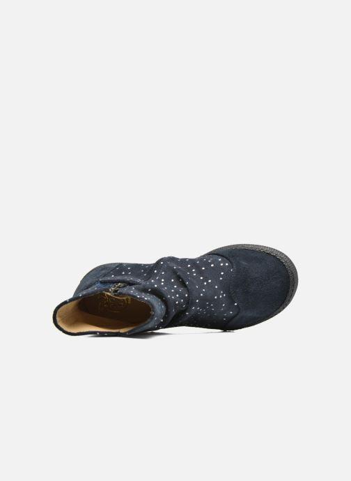 Bottines et boots Pom d Api New school pleats golden Bleu vue gauche