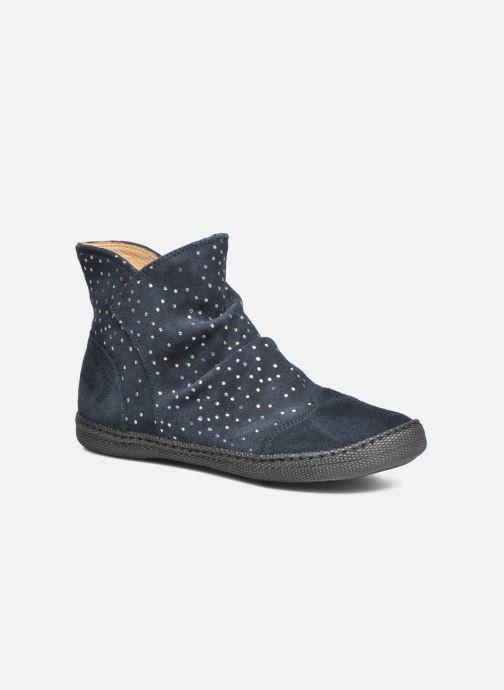 Bottines et boots Pom d Api New school pleats golden Bleu vue détail/paire