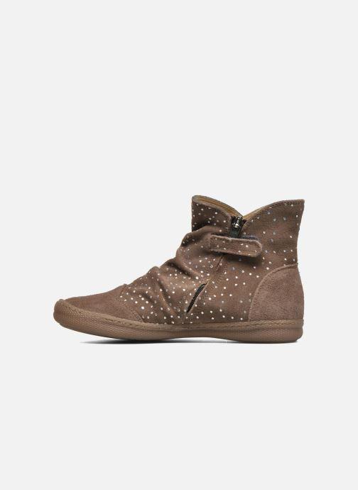 Bottines et boots Pom d Api New school pleats golden Beige vue face