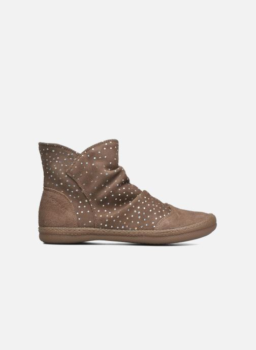 Bottines et boots Pom d Api New school pleats golden Beige vue derrière