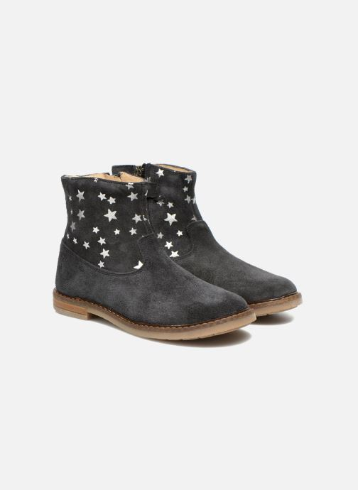 Ankle boots Pom d Api Trip boots print star Blue 3/4 view