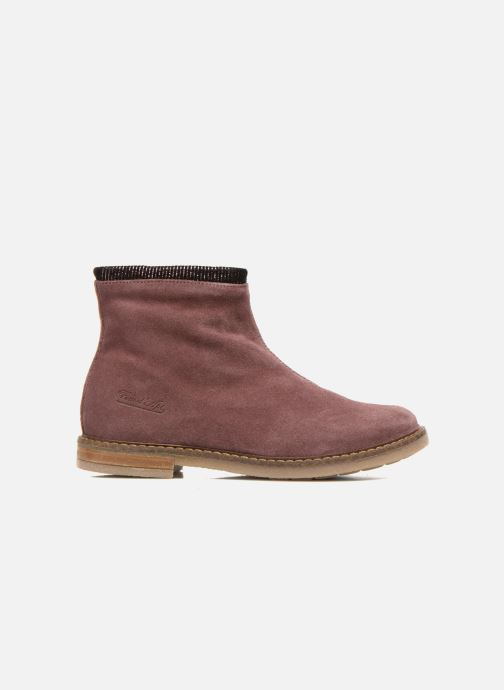 Ankle boots Pom d Api Trip boots stripes velours Burgundy back view