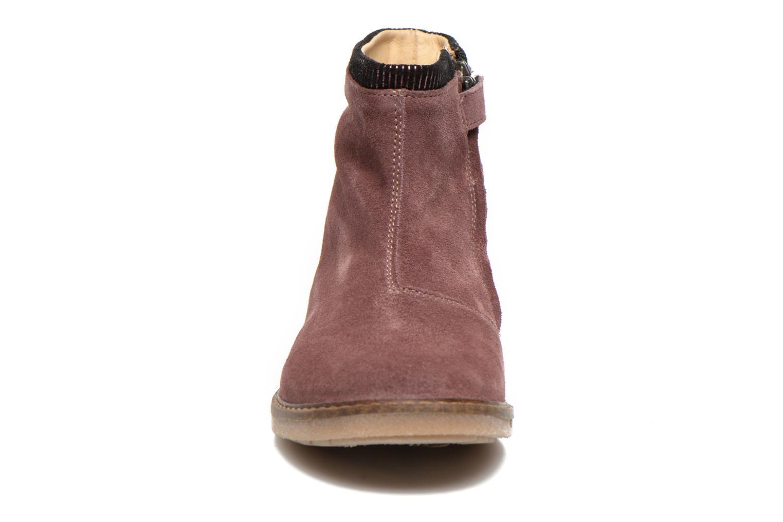 Bottines et boots Pom d Api Trip boots stripes velours Bordeaux vue portées chaussures