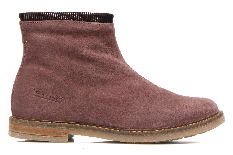 Bottines et boots Pom d Api Trip boots stripes velours Bordeaux vue derrière