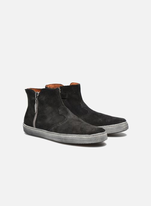 Bottines et boots Shwik ADDICT ZIP WEST Noir vue 3/4